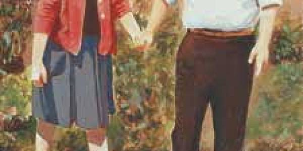 Mis padres 2003 Óleo sobre madera 40 x 20 cm