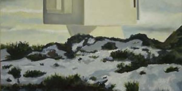 Casa de María Luján. Óleo/madera. 47 x 31 cm