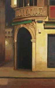 La esquina de Rafael Sánchez, 2010, óleo/lienzo, 55x34 cm.