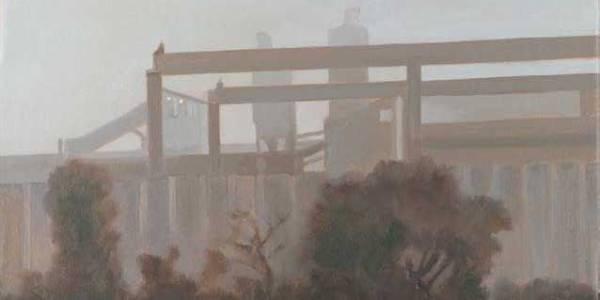 Desde el tren VI. 2008. Óleo sobre lienzo. 19 X 33 cm