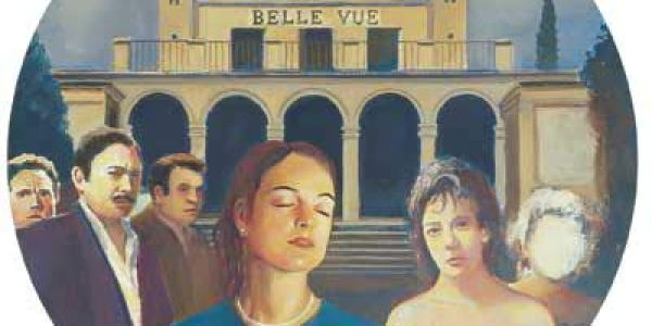 Belle Vue 1998 Óleo sobre madera 48 cm diam.
