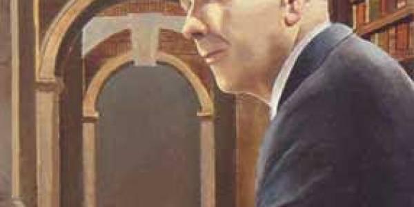 Borges 2002 Óleo sobre fusta 60 x 38 cm