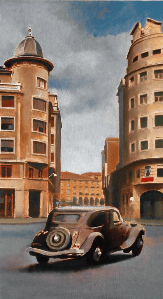 Traction-Avant.-2019.-Óleo-sobre-tela.-61-x-33-cm LUGARES DE LA MEMORIA TORRELAVEGA