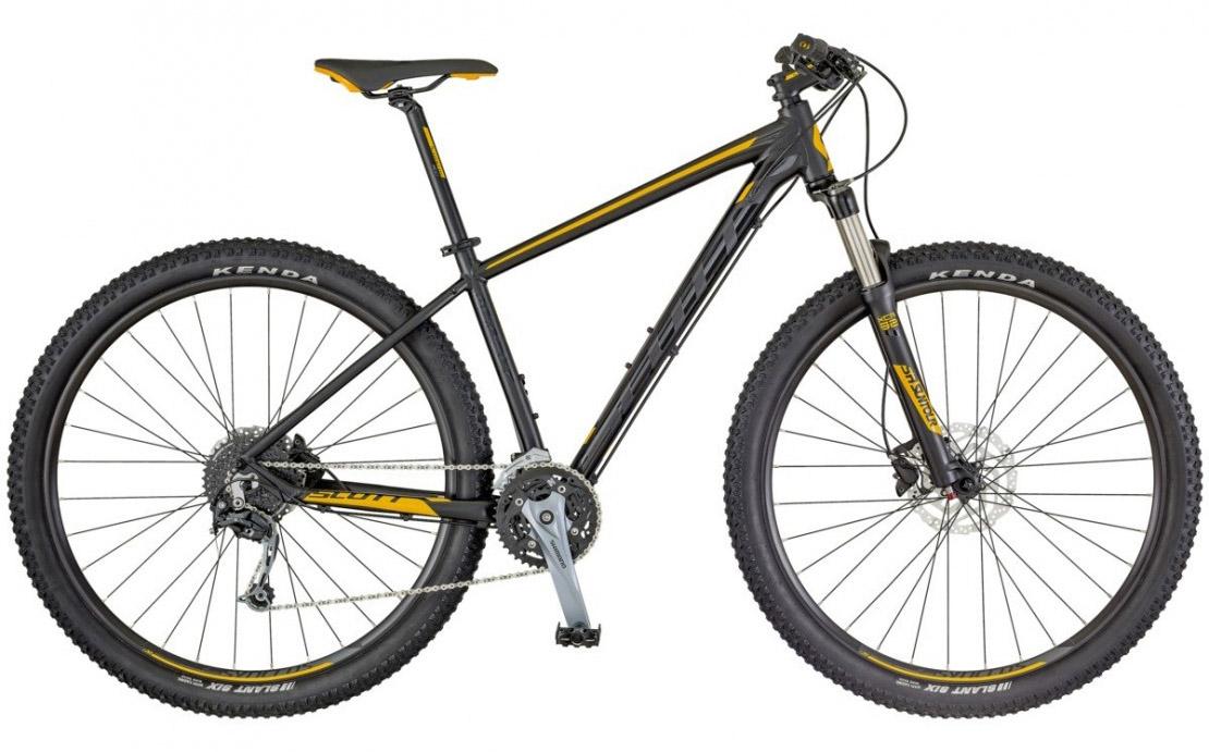 Scott Aspect 730 black-yellow 2018 650B (27.5) Mountain Bike