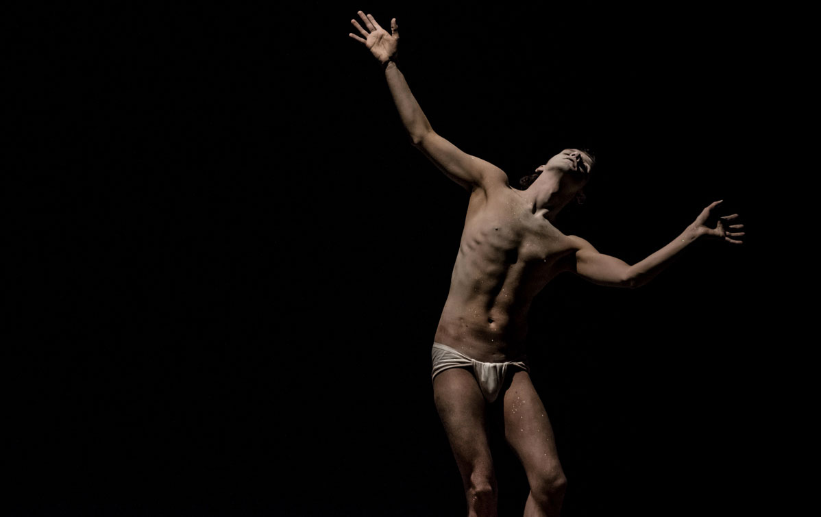 "Damiano Fina performing butoh ""The Presage of The Phoenix"""