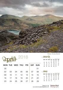 Damian Ward Photography Calendar 2018 April