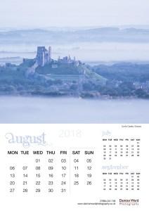 Damian Ward Photography Calendar 2018 August