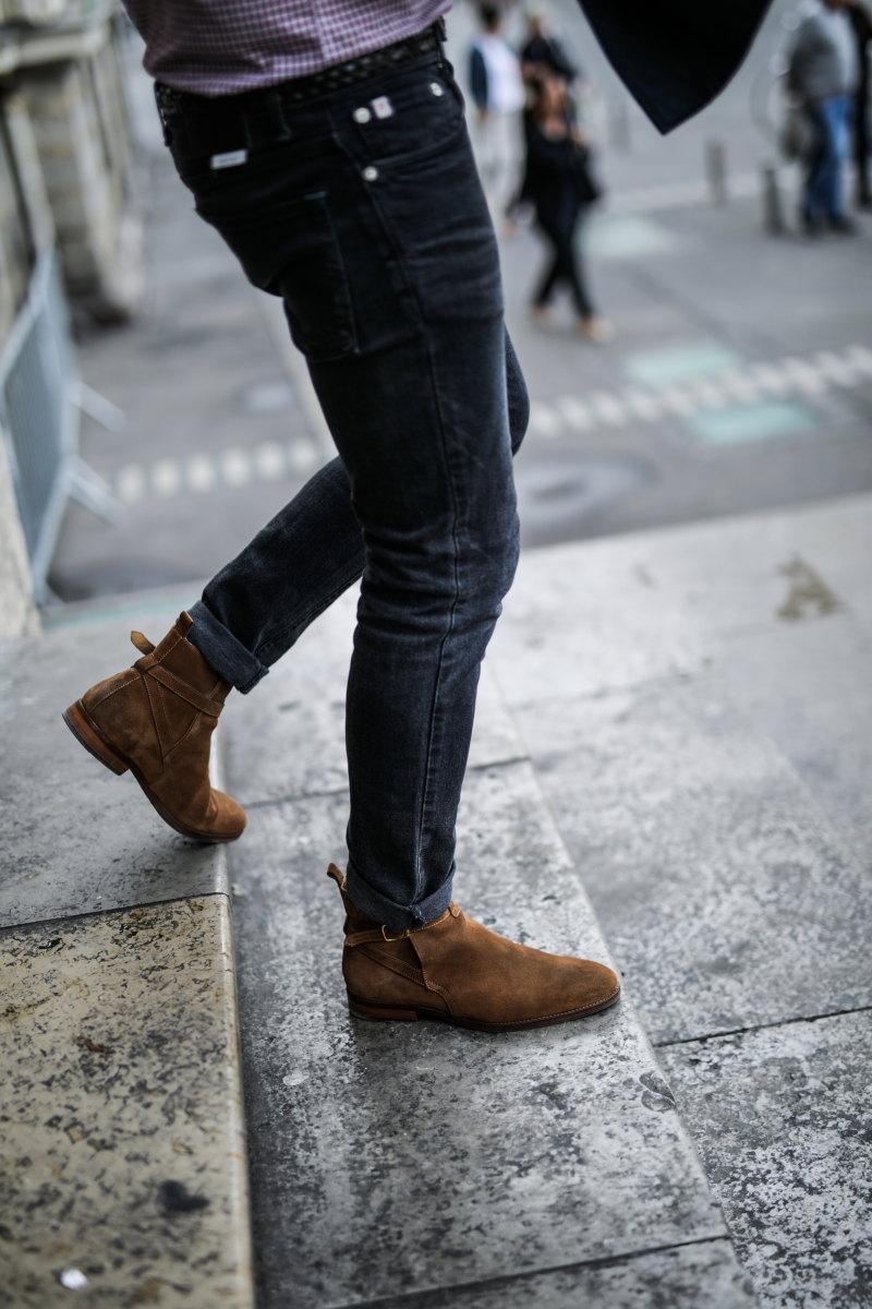 chemise à carreaux DamienLB chelsea boots octobre editions