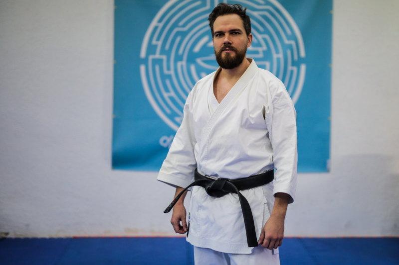 damienLB kimono ceinture noire