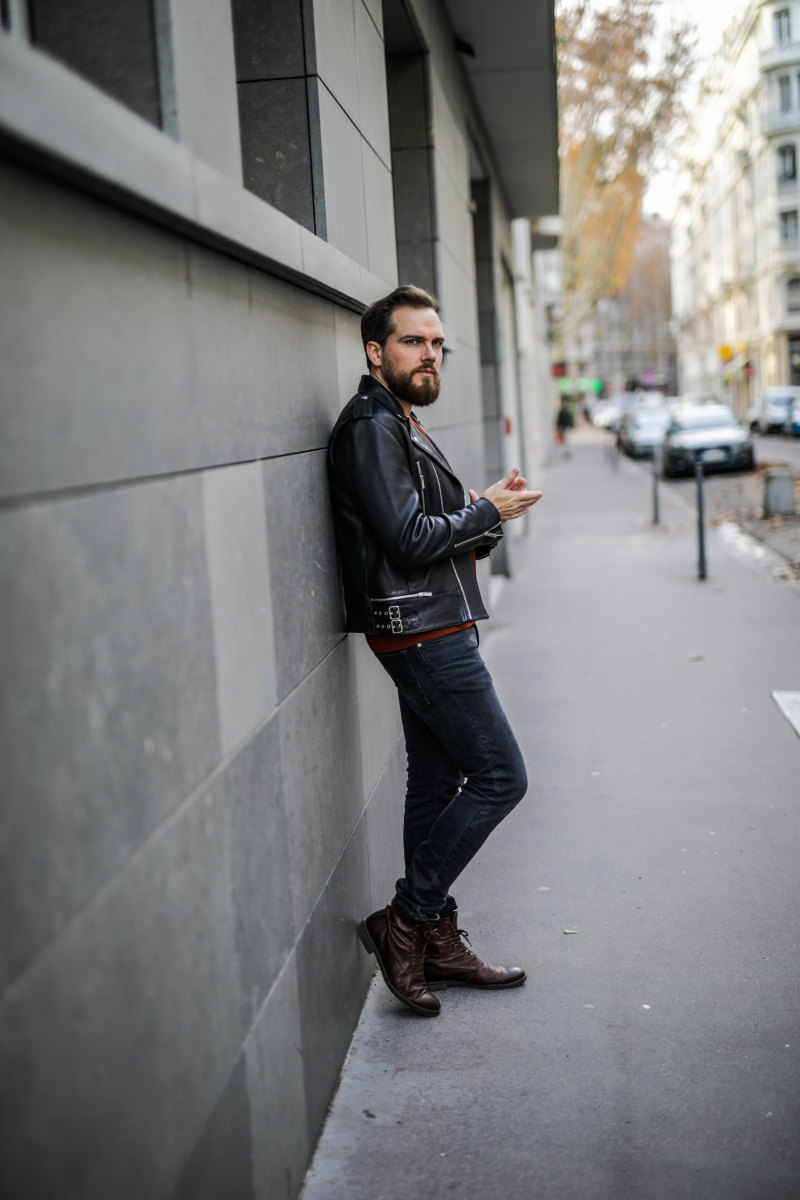 idee look homme Damien LB pull brique urbain