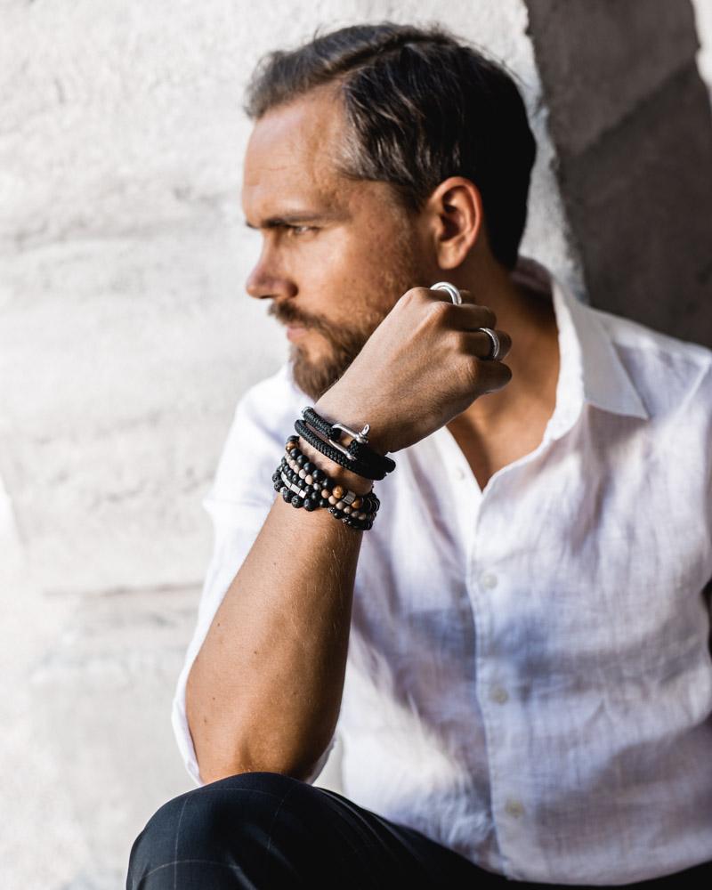 Chemise en lin Uniqlo DamienLB bracelet rochet