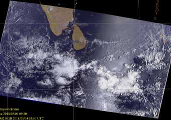 MN2 Satellite Image Sri Lanka – 03.04.2018