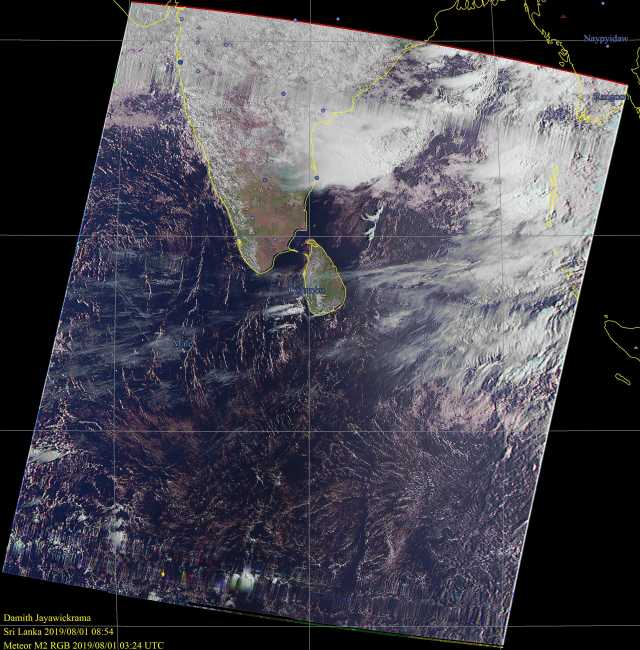 Satellite image Sri Lanka
