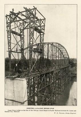 Henley RR bridge construction
