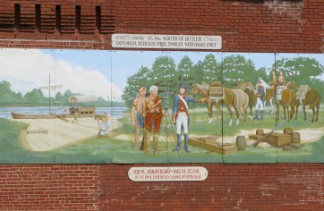 """Zebulon Pike Parley with Osage Chief"" - mural by Dan Brewer, Butler, Missouri"