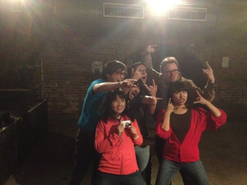 Shonen Knife & smallgang end of tour rock poses