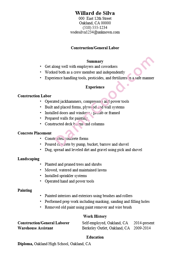 No College Degree Resume Samples Archives Damn Good