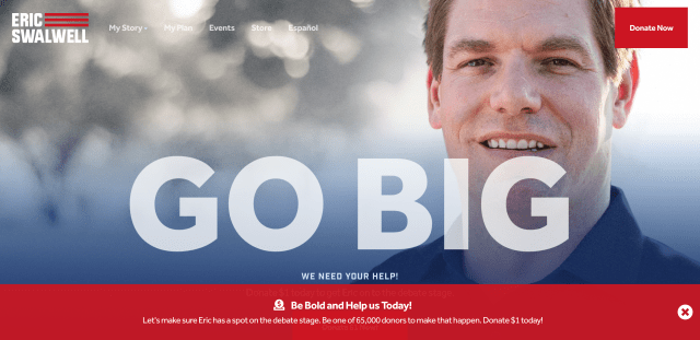 Homepage for ericswalwell.com