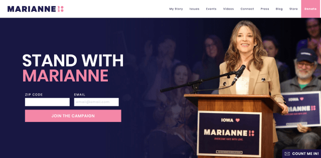 Homepage of marianne2020.com