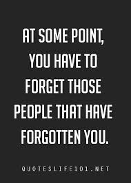 Forget those