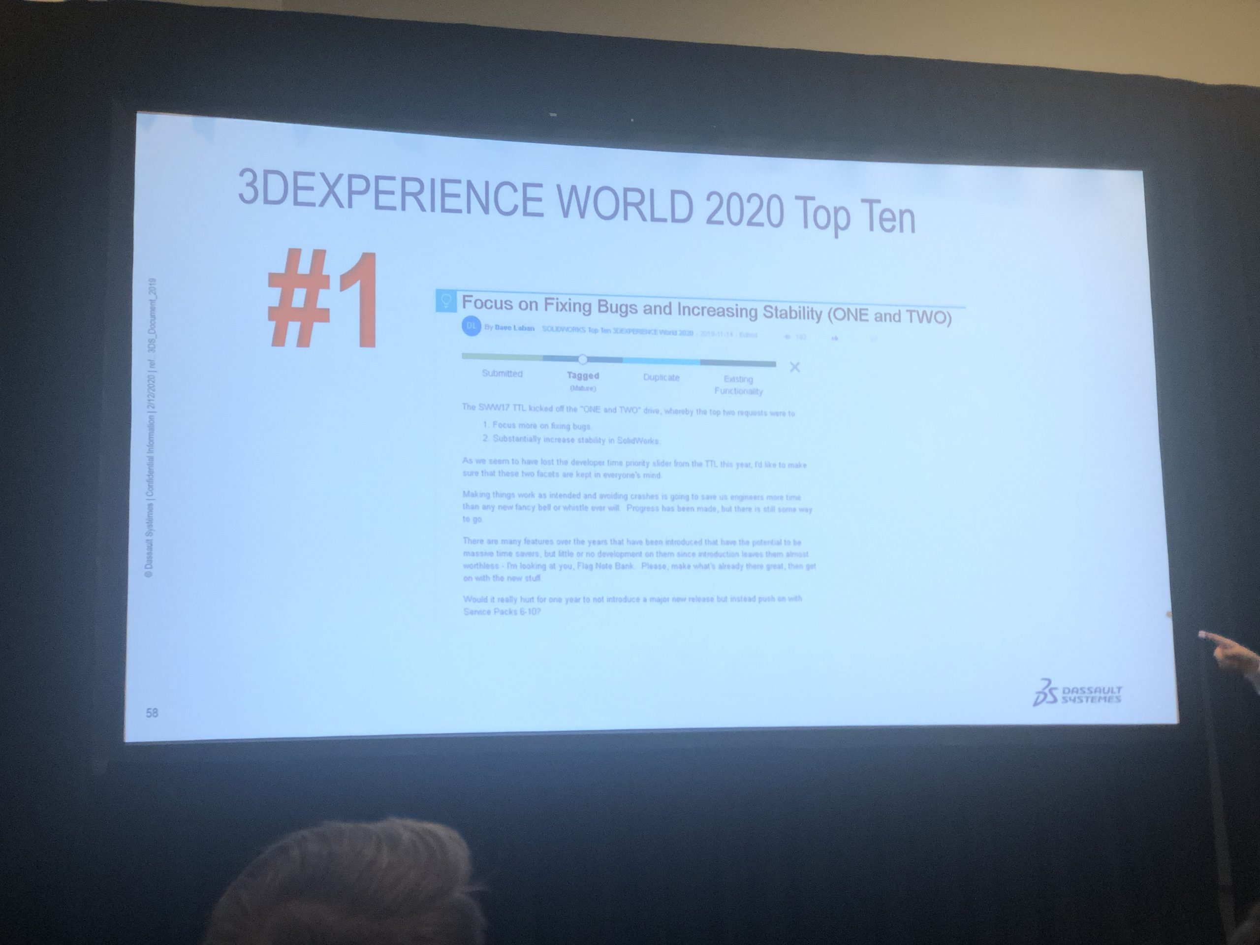 3DExperience World 2020 Top Ten List Data