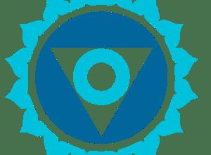 Logo del chakra Centre Laringe (Vishudha)