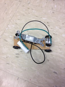 My student's homemade part robot-car.