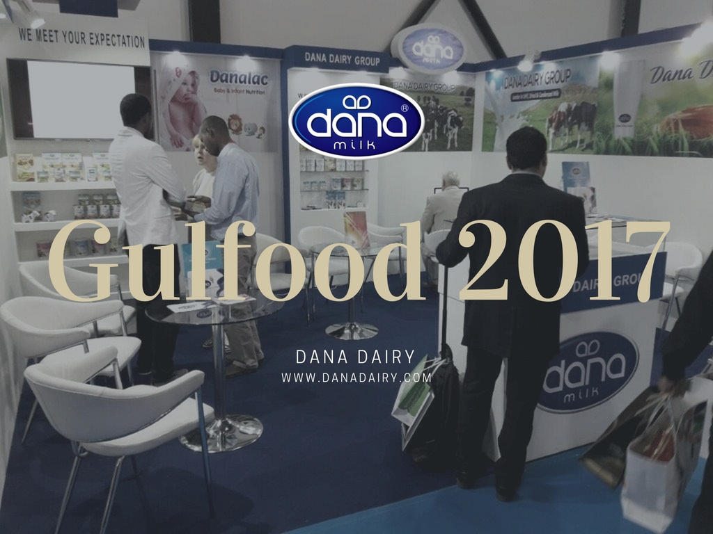 Dana Dairy participated in Gulfood 2017 Dubai, UAE. At our boot we presented our DANA brand products such as DANA Milk. Also we presented our flagship product brand DANALAC infant formula and baby food product line.