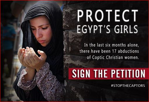 Egypt's ongoing Abduction of Christian Coptic women and girls #StopTheCaptors