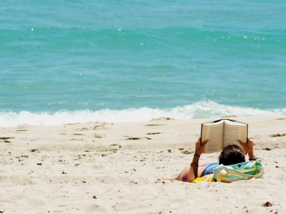 reading beach photo