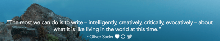 Oliver Sacks quote