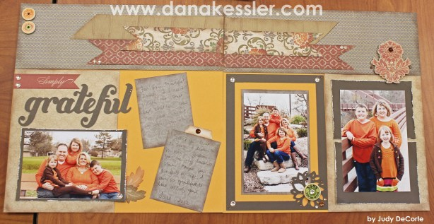 Two Page Autumn Fall scrapbooking Layout Huntington Artbooking CTMH #ctmh #scraptabulouscrops #scrapbooking