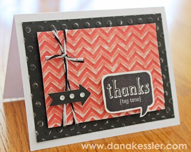 Thank You Card CTMH Dry Embossing Folders Cricut #scraptabulousdesigns #cricut #cards #embossing
