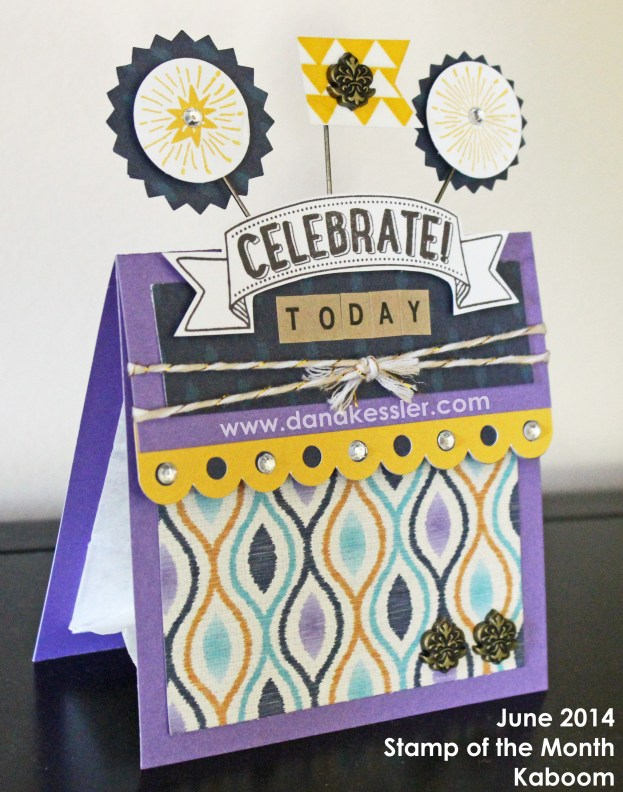 Party Cricut Treat Bag CTMH Kaboom June Stamp of the Month Sarita #scraptabulousdesigns #ctmh #cricut