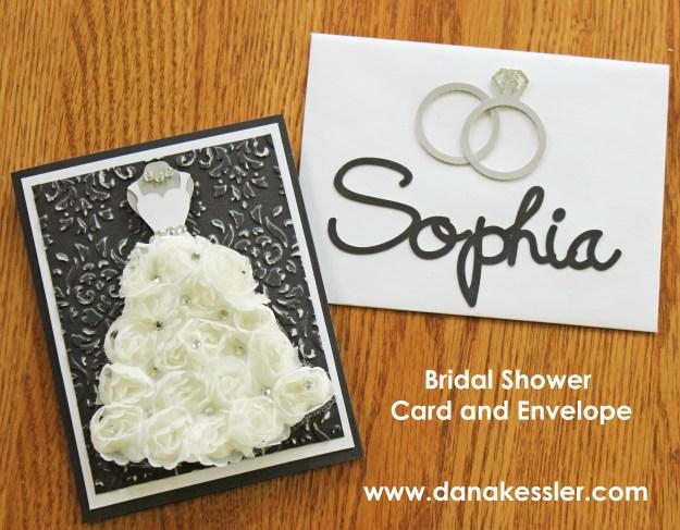 Bridal Shower Wedding Embossed Card Cricut Explore #scraptabulousdesigns #cricut #cards