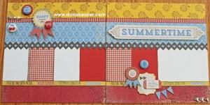 Two page scrapbook layout Jubilee summer fun CTMH Cricut #scraptabulousdesigns #cricut #ctmh #jubilee