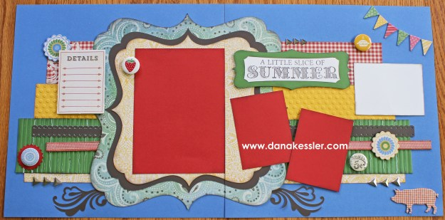 Two page scrapbook layout Jubilee summer fun CTMH Cricut #scraptabulousdesigns #cricut #ctmh #jubilee