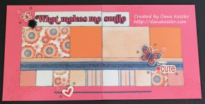 Claire Scrapbook layout Smile Friends Girls #scraptabulousdesigns #ctmh