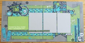 L8R Skater Boys Scrapbook Layout Pages #ctmh #scraptabulousdesigns
