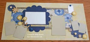 Pemberly Family Flowers Scrapbook Layout Pages Art Philosophy #ctmh #scraptabulousdesigns #cricut