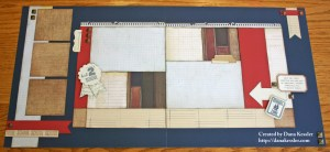 Two Page Scrapbook Layout Scholastic School Books #ctmh #scraptabulousdesigns