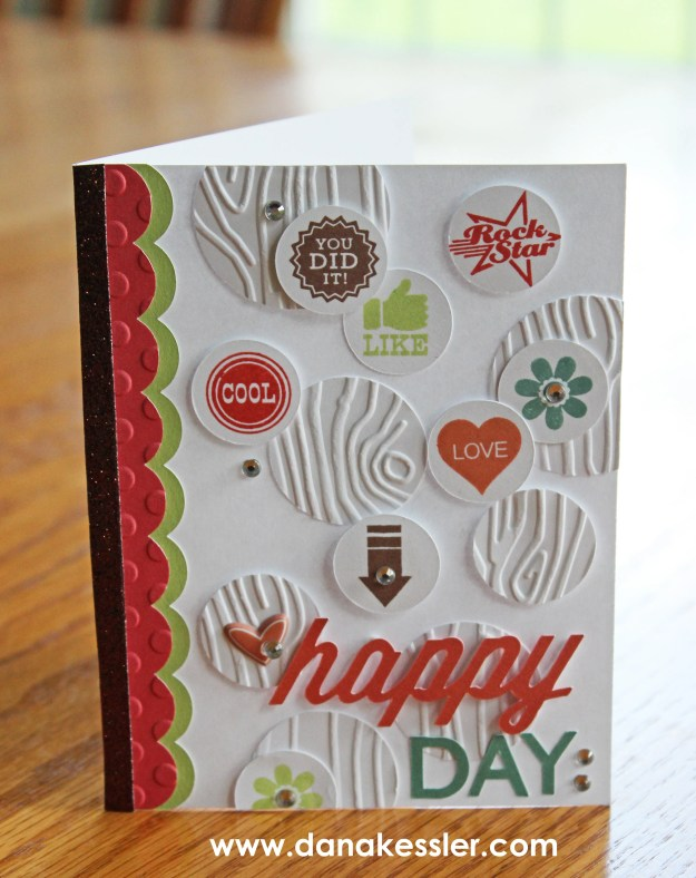 30 Years of Happy CTMH National Stamping Month Happy Congratulations card Cricut Embossed #ctmh #scraptabulousdesigns #cricutexplore