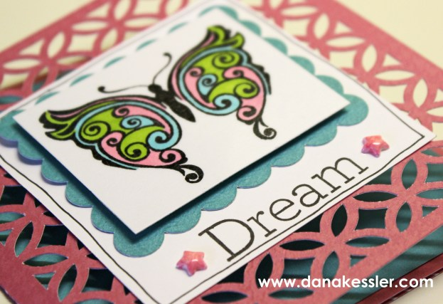 Dream Butterfly Card Shin Han Markers Arfully Sent #ctmh #scraptabulousdesigns #cricutexplore