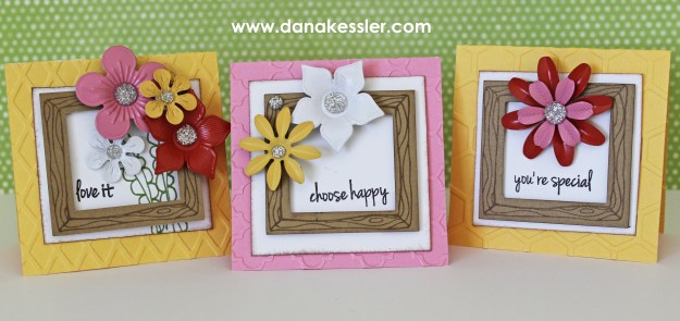 March SOTM Choose Happy Brushed Spring Cards #ctmh #scraptabulousdesigns #cricutexplore