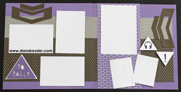 Two Page Scrapbook Layout Fundamentals 20 page workshop totally teen #pagekits #ctmh #cricutexplore #scraptabulousdesigns #scrapbooking