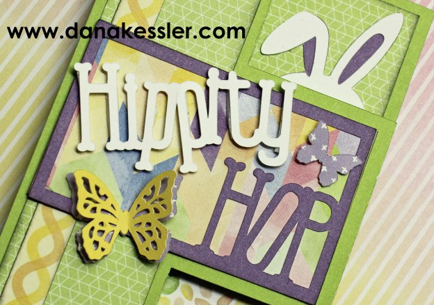 Happy Easter Kaleidoscope Bunny tri fold shutter card #ctmh #scraptabulousdesigns #ctmhkaleidoscope #ctmhartistry #cards #cricutexplore #cricutcards