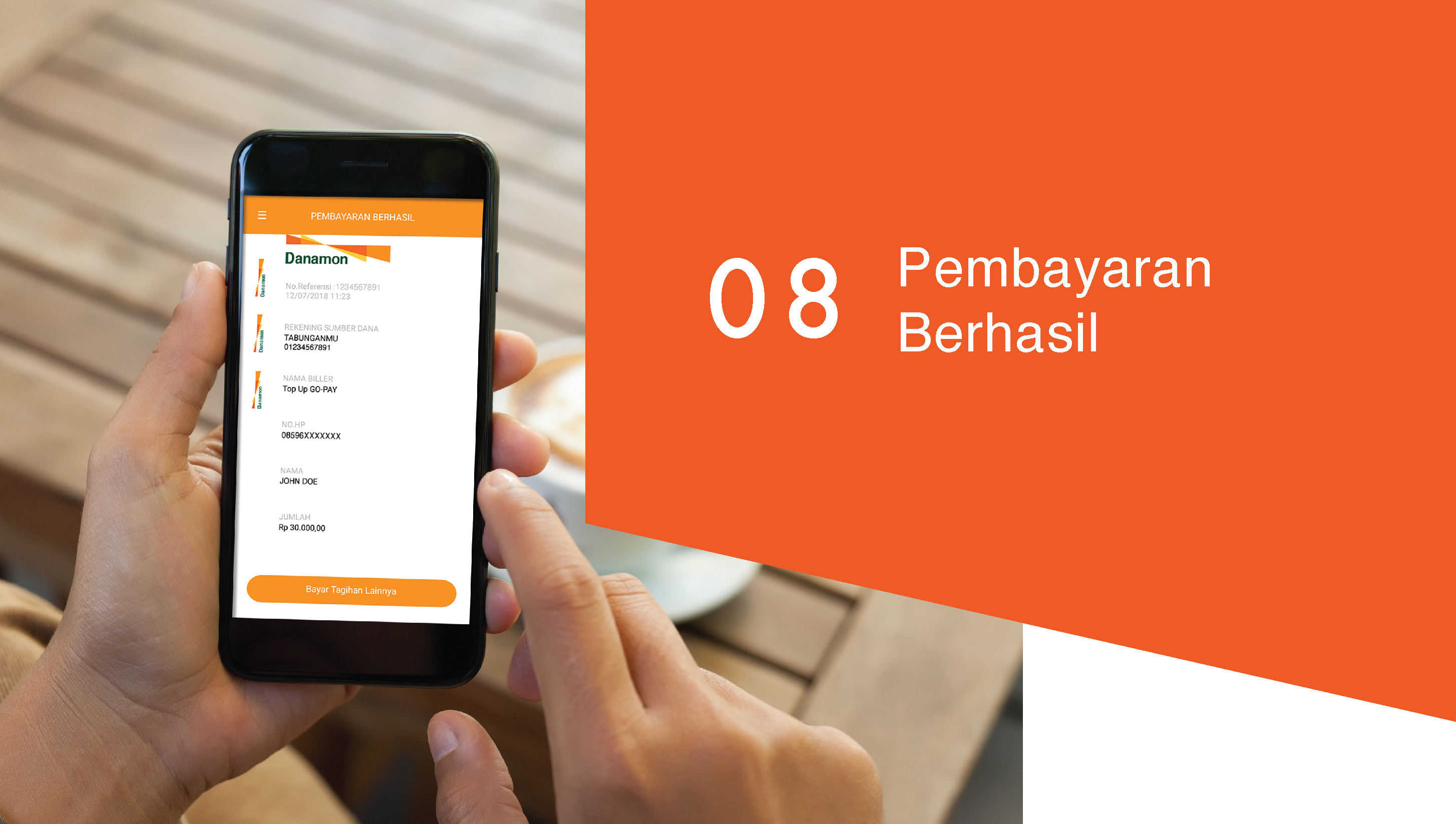 Tutorial Top Up Go Pay Bank Danamon