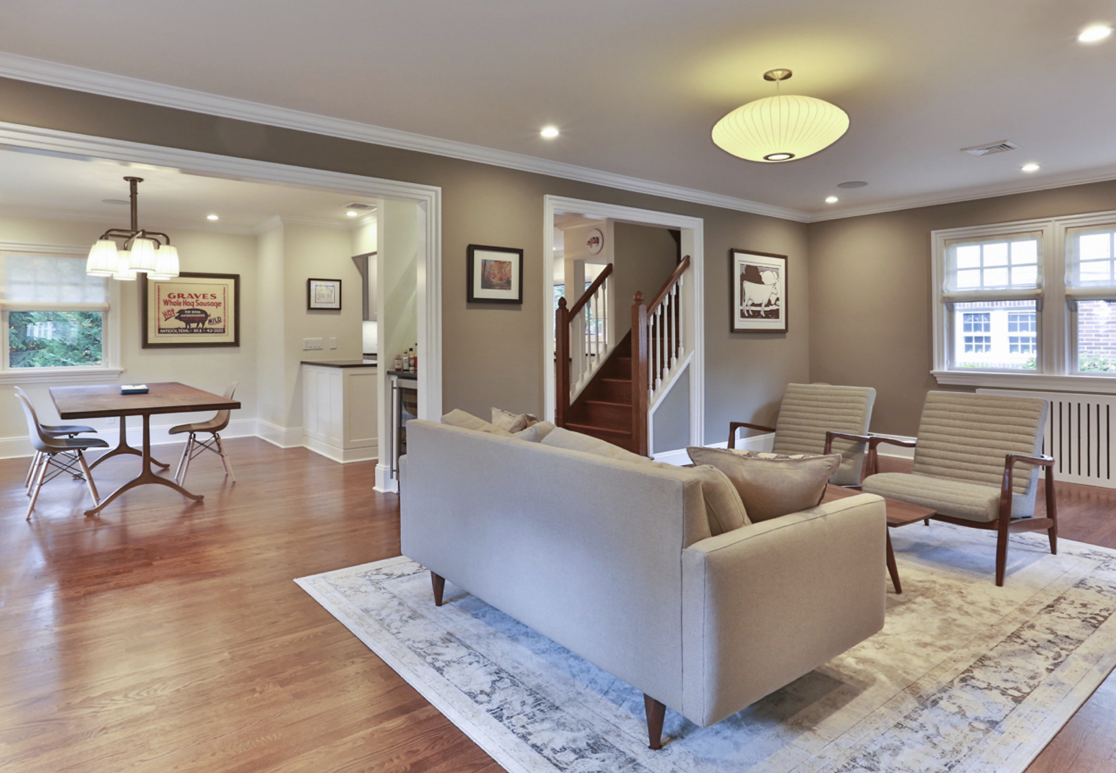 open plan staircase in living room images of transitional rooms renovation for dan and john life