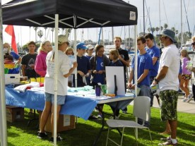 Penny Elia, site director for the OC Dana Point Harbor cigarette roundup, talks to volunteers during last year's Coastal Cleanup Day. Courtesy photo