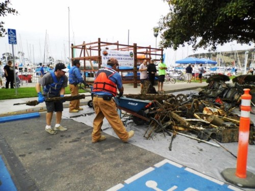 The annual California Coastal Cleanup Day brings dozens of volunteers to the Harbor and surrounding beaches and waterways. Courtesy photo